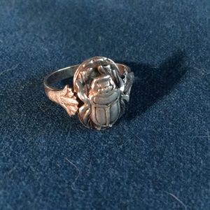 Silver Egyptian Scarab Ring